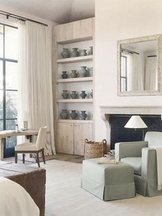 CaliforniaModern - lookslikewhite Blog - lookslikewhite.   White and soothing with touches of soothing color.