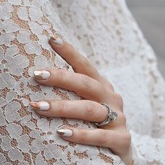 This All Fired Up metallic foil mani is just the right amount of girly + edgy. #paintboxmani #nails #nailart