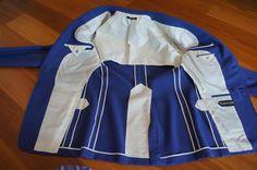 Пиджак на полуподкладке