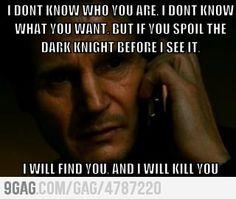 If you spoil batman...