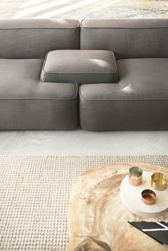 Sectional fabric sofa CLOUD - Lema
