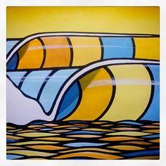 """Pico da paz"" ""Peace point"" Art by Marcos Mota Acrilica sobre papel Acrylic on paper 33 x 41 cm #surf #art #peace #nowar #sharethewaves #yellow #blue #colors #waves #ocean #poinrbreak #barrels #search #simple #surfart #surfillustration #makeartnotwar"