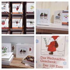 Ideal als Weihnachtsgeschenk! BioArt-Schokolade, Pralinen, Geschenksverpackung, Schreibblöcke uvm. mit dem Design von Stephanie Wobornik. Ab sofort erhältlich bei Stephanie und in der Galerie Artlet.