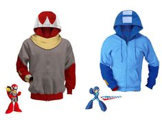 Megaman and ProtoMan Hoodies! I am not joking, where were you when I was....(I can still use this) YES!