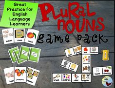 ESL EFL   Beginner   Newcomer   Games   Plural NounsAs an ESL teacher, I was frustrated over the lack of quality resources for engaging my ESL   EFL beginning level students.  Most trade books dont do this well or offer too little practice for optimal retention of the target skills. $3.75 Grammar Games, Grammar Activities, Grammar Lessons, Language Activities, Educational Activities, Classroom Activities, Teacher Resources, Teaching Ideas, Teaching Tools