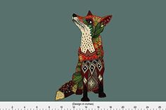 Fox Fabric - Fox Love Juniper Art Panel Custom by scrummy - Fox Fabric with Spoonflower - Printed on Linen Cotton Canvas Fabric by the Yard Canvas Fabric, Cotton Canvas, Fox Fabric, Thing 1, Panel Art, Spoonflower, Giraffe, Yard, Printed