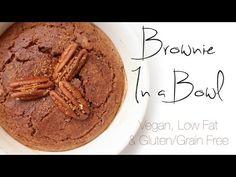 Brownie In a Bowl (Vegan, Gluten/ Grain Free, Low Fat)