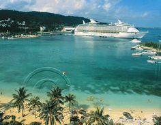 size: Photographic Print: Cruise Ship and Turtle Beach, Ocho Rios, Jamaica by Doug Pearson : Jamaica Honeymoon, Beach Honeymoon Destinations, Jamaica Travel, Romantic Honeymoon, Top Destinations, Honeymoon Ideas, Girlfriends Getaway, Girls Getaway, Ocho Rios