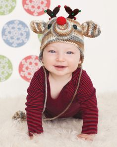Rudolph Hat Crochet Pattern| crochet today#redheartyarns