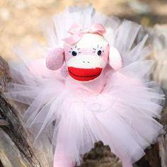 Finally a sock monkey with a tutu! Its so ADORABLE:) I need a girl!