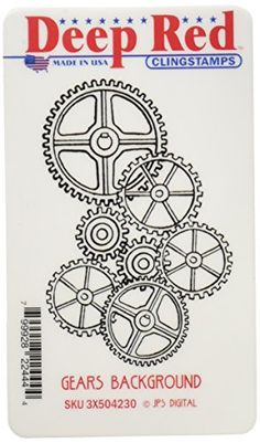 Deep Red Cling Stamp-Gears Background Deep Red Stamps https://www.amazon.com/dp/B00D0FKLXS/ref=cm_sw_r_pi_dp_x_yeR5xbHCFEX4F