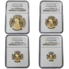 2003-W 1.85 oz Gold Eagle NGC PF70 Ultra Cameo 4-coin Set   Bullion Exchanges