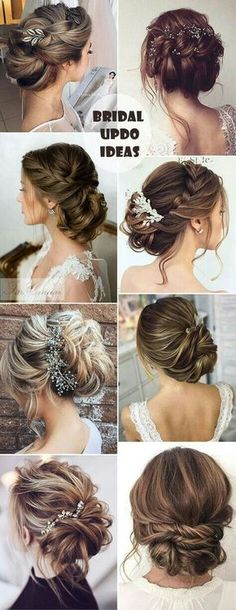 25 Drop-Dead Bridal Updo Hairstyles Ideas for Any Wedding Venues hochzeitsfrisuren photo 2019 best bridal uodo hairstyles ideas for 2017 wedding venues hochzeitsfrisuren photo 2019 Bridal Hair Updo, Wedding Hair And Makeup, Hair Makeup, Hair Wedding, Wedding Nails, Bride Makeup, Wedding Hairdos, Hairstyle Wedding, Makeup Hairstyle