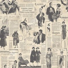 Shop Retro Newspaper Wallpaper Vintage Old Adverts Black White Paste The Wall Galerie.