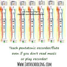 Learn how to play and teach Pentatonic flute - even if you can't read music 💜 Waldorf Math, Kindergarten Homeschool Curriculum, Waldorf Education, First Grade, Grade 1, Music For Kids, Music Classroom, Music Theory, Teaching Music