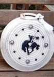 Western Crafts, Rope Art, Rope Basket, Picture Frames, Baskets, Clock, My Style, Diy, Portrait Frames