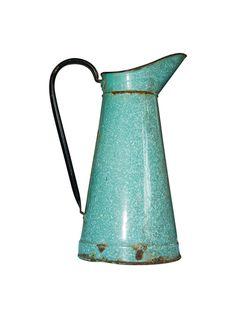 Vintage Country French Enamel Graniteware Body Pitcher | The HighBoy | blog.thehighboy.com