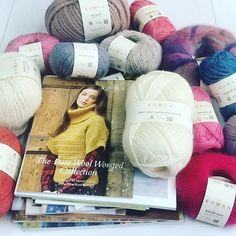 Our training session went really well! Look at all of that lovely yarn! Rowan Yarn, Exeter, Training, Throw Pillows, Sewing, Knitting, Instagram Posts, Toss Pillows, Dressmaking