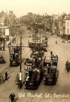 Old Market Street, Bristol (date unknown) City Of Bristol, Bristol Uk, Old Pictures, Old Photos, Vintage Photos, Time In England, Bristol England, Local History, Family History