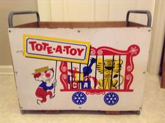 Tote A Toy Toybox Toy Box Storage Chest Circus Clown
