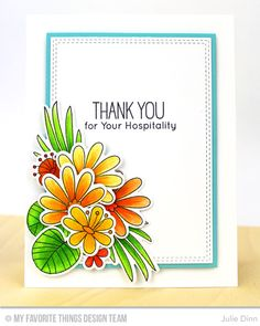 Handmade card from Julie Dinn featuring the Double Stitched Rectangle STAX Die-namics