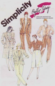 80s Simplicity Sewing Pattern 6339 Phyllis Sidney by CloesCloset, $8.00