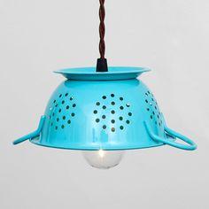 Mini Colander Pendant Blue by Flea Market Rx | Fab.com