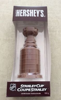 Hershey's solid milk chocolate Stanley Cup NHL Hockey Tampa- Chicago black hawk #Hersheys. New listing 4/2016 #ebay