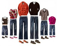 What to wear for family portraits-- more ideas on blog