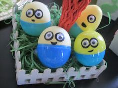 mini minions from Easter eggs