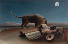 Анри Руссо - Спящая цыганка [The Sleeping Gypsy]. Анри Руссо