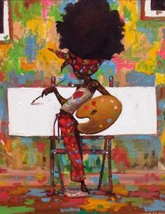 Frank Morrison Featured Artist is a special page featuring the remarkable art of award-winning painter Frank Morrison. Black Girl Art, Black Women Art, Caricatures, Frank Morrison Art, African American Artwork, Black Artwork, Afro Art, Arte Popular, Love Art