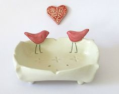 Pottery Soap Dish, Housewarming Gift, Bathroom Accessories