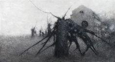Heräävä muuntaja, katkenneella puulla / Electrical substration, with a broken tree, 2014 - Timo Sälekivi