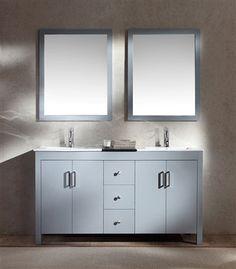 grey 60 inch ariel bathroom vanity