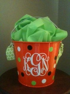 Halloween Bucket. $18.00, via Etsy.