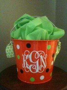 Halloween Bucket. $18.00, via Etsy.