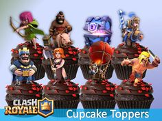 Clash Games provides latest Information and updates about clash of clans, coc updates, clash of phoenix, clash royale and many of your favorite Games 5th Birthday, Birthday Cake, Birthday Parties, Royal Party, Party Guests, Clash Of Clans, Cupcake Toppers, Geek Stuff, Printables