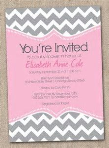 chevron invitations