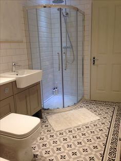 Fired Earth Patisserie Sucre tiles, Roper Rhodes Burford Mocha and Geo bathroom suite, white metro tiles, bathroom renovations, Propertylc Bathroom Layout, Bathroom Colors, Bathroom Interior Design, Bathroom Ideas, Fitted Bathroom, Small Bathroom, Bathroom Wall, Room Tiles, Wall Tiles