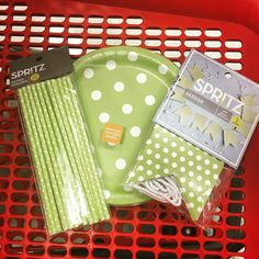 Give your next #party  that #wow appeal with #limegreen  #pokadot #paperstraws #paperplates and #banner.  @target  $2.00 - $4.00 each