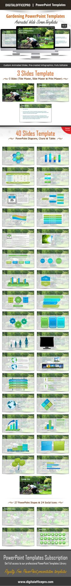 Green Geometric PowerPoint Template Backgrounds - summer powerpoint template