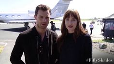 Jamie Dornan and Dakota Johnson - Message for the fans