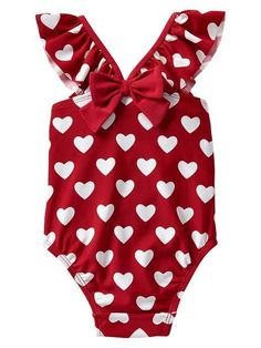 4807291eb0 GAP Baby / Toddler Girl 18-24 Months NWT Heart Print Ruffle Bathing Suit -  2014