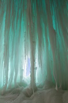 Lake Superior Ice Caves - pretty blue