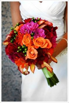 fall bouquet...amber these colors are cute as well- For more amazing finds and inspiration visit us at http://www.brides-book.com and join the VIB Ciub