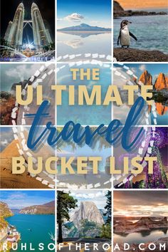 Learn our official 50 Bucket List places to visit in the USA and across the world! And learn how to make a travel bucket list of your own. Adventure Awaits! 50 wonderful destinations for everyone's bucket list. Bucket list inspiration and bucket list ideas to make your own. 50 must visit destinations!