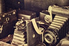 Old Antique Cameras Photograph  - Old Antique Cameras Fine Art Print