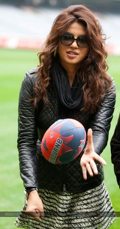 Priyanka Chopra snapped at the Melbourne Football Ground