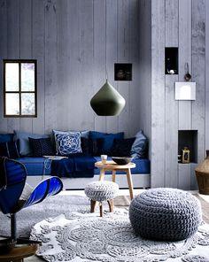 Синяя гостиная ( ФОТО ) - IQInterior